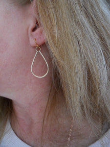Kristiana Hammered Hoop Earrings in 14K Gold Filled, OR 14k Rose Gold Filled, Size: Small