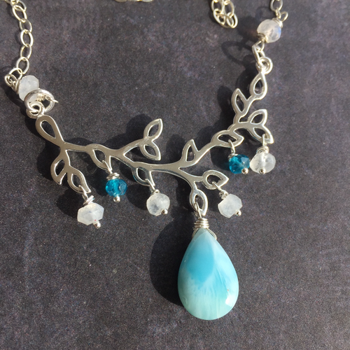 Larimar Branch Necklace