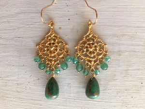 Emerald City Azurite Chandeliers