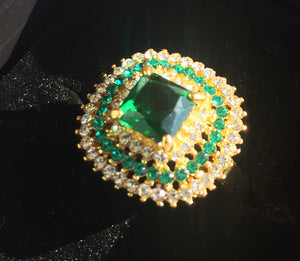 Emerald Green Fun Ring, Size 7, OOAK