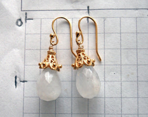 Moonstone Empire Earrings
