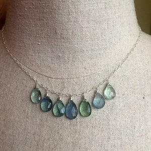 Fluorite Watercolor Necklace  OOAK  no. 3