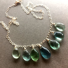 Load image into Gallery viewer, Fluorite Watercolor Necklace  OOAK  no. 3