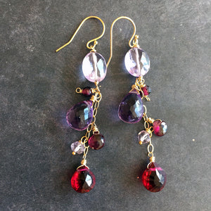 Heartfelt Dangle Earrings, OOAK
