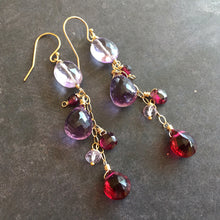 Load image into Gallery viewer, Heartfelt Dangle Earrings, OOAK