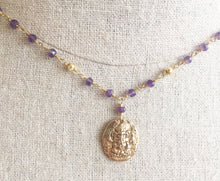 Load image into Gallery viewer, Amethyst Ganesh Necklace