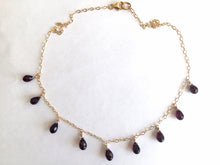 Load image into Gallery viewer, Garnet Necklace, Gold, Rose Gold or Silver