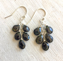 Load image into Gallery viewer, Classic  - Green Tourmaline Dangles, metal choices