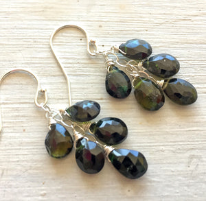 Classic  - Green Tourmaline Dangles, metal choices