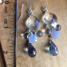 Load image into Gallery viewer, Ice Queen Whimsy Earrings, OOAK