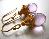 Load image into Gallery viewer, Bright Orchid Empire Earrings, Gold or Silver