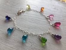Load image into Gallery viewer, All That Multi-Colored faceted quartz droplet bracelet