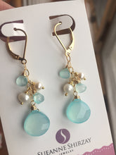 Load image into Gallery viewer, The Blues Dangle Earrings