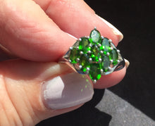 Load image into Gallery viewer, Chrome Diopside Ring Size 7, OOAK, estate