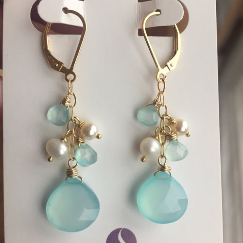 The Blues Dangle Earrings