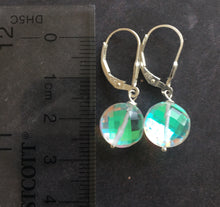 Load image into Gallery viewer, Fire Opal Coin earrings, choose metal/earwire