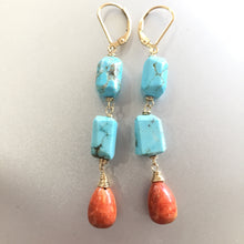Load image into Gallery viewer, Complementary Colors Sponge Coral Dangles