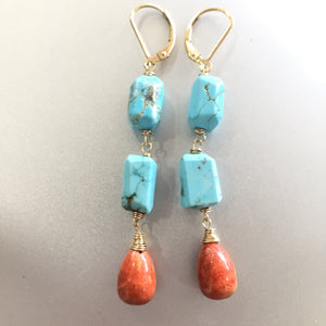 Complementary Colors Sponge Coral Dangles