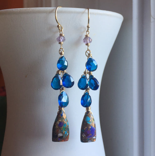 Ibiza Dangle Earrings OOAK #1