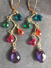 Load image into Gallery viewer, Merriment Jewel Tone Vine Earrings