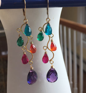 Merriment Jewel Tone Vine Earrings