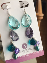 Load image into Gallery viewer, Spectacular Cascade Dangles featuring super sparkly color change Alexandrite quartz no. 2