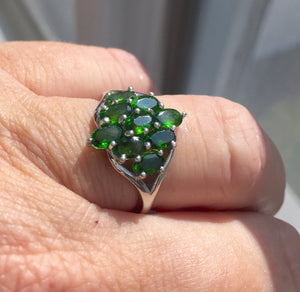 Chrome Diopside Ring Size 7, OOAK, estate