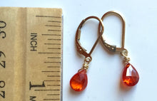 Load image into Gallery viewer, Padparadscha Teeny Earrings- Metal and Earwire options