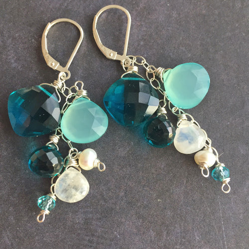 Island Breeze Cascade Earrings, Metal Choices