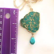 Load image into Gallery viewer, Jasper and Turquoise Chain Necklace- One of a Kind #2