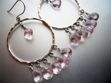 Load image into Gallery viewer, Jenn Hoops in Morganite Quartz