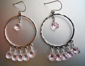 Jenn Hoops in Morganite Quartz