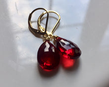 Load image into Gallery viewer, 3 week backorder- Just Perfect Garnet Red Danglers