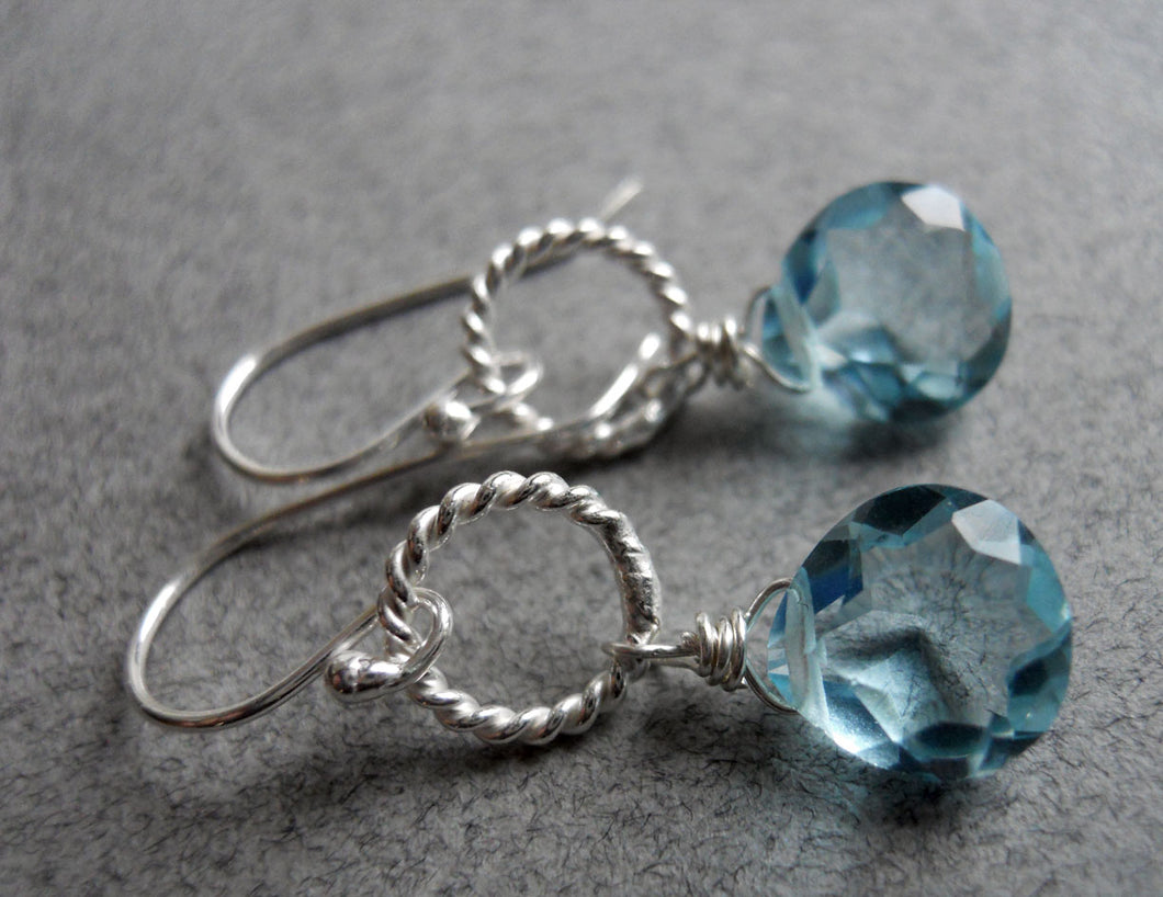 Just a Schpritz of Aqua Single Drop Earrings