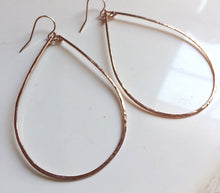 "Load image into Gallery viewer, Katie Hammered 2.5"" Hoop Earrings Size: Large, 14K Rose Gold, Yellow Gold or Silver  , Metal options"