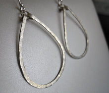 Load image into Gallery viewer, Kristiana Hammered Hoop Earrings in Sterling Size: Small, LEVERBACK
