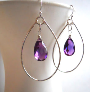 Kunzite Hoopla Hoop Earrings