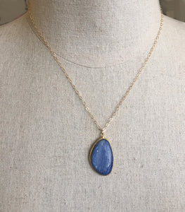 Kyanite Bezel Pendant, Great Size and Quality- One of a Kind