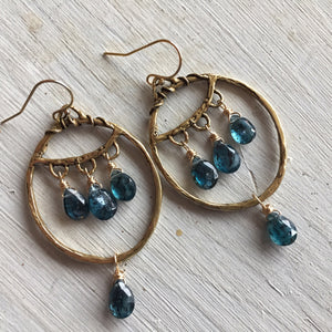 Empress Kyanite Hoops