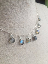 Load image into Gallery viewer, Fiery Labradorite and Aquamarine Necklace