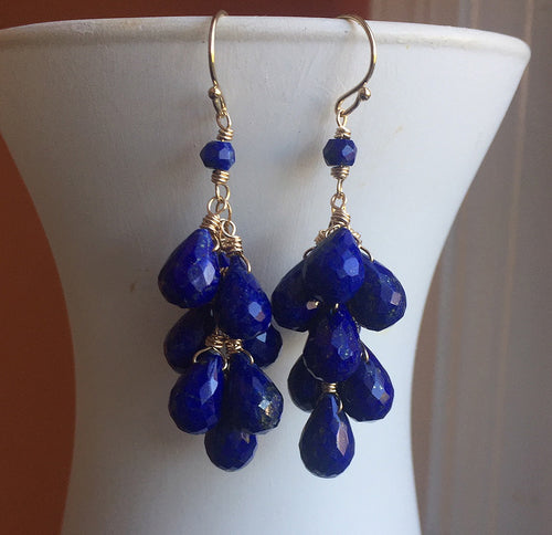 lapis lazuli earrings sueanne shirzay jewelry