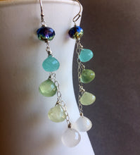 Load image into Gallery viewer, Lemonade Cascade Earrings, Earwire options, OOAK