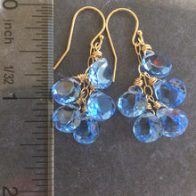 Load image into Gallery viewer, Light Tanzanite Blue Cluster Earrings