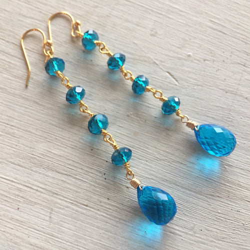 Ear Candy Dangles, London Blue