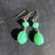 Load image into Gallery viewer, SET, Chrysoprase Lotus Necklace and Earrings, OOAK