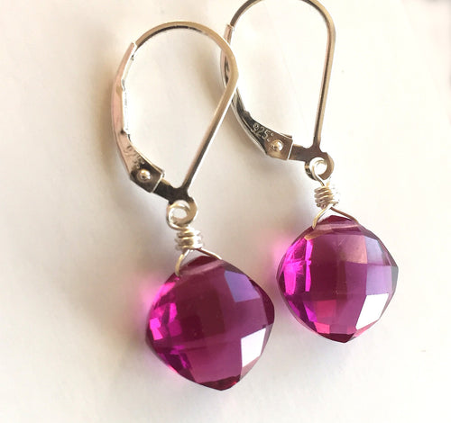 Magenta Cushion Cut Teenies, Metal choices