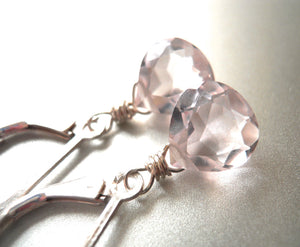Mini Morganite Earrings
