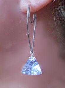 Moon and Wave - Kyanite Teardrop Earring