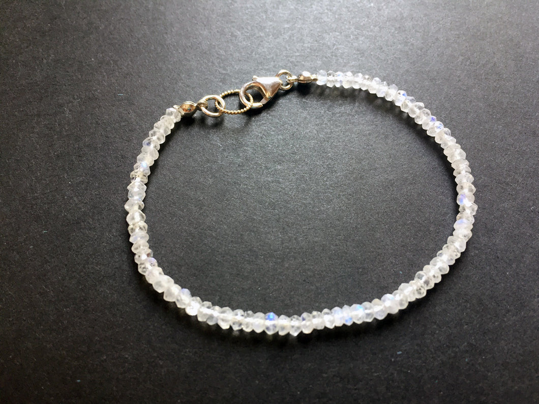Simple Rainbow Moonstone Bracelet