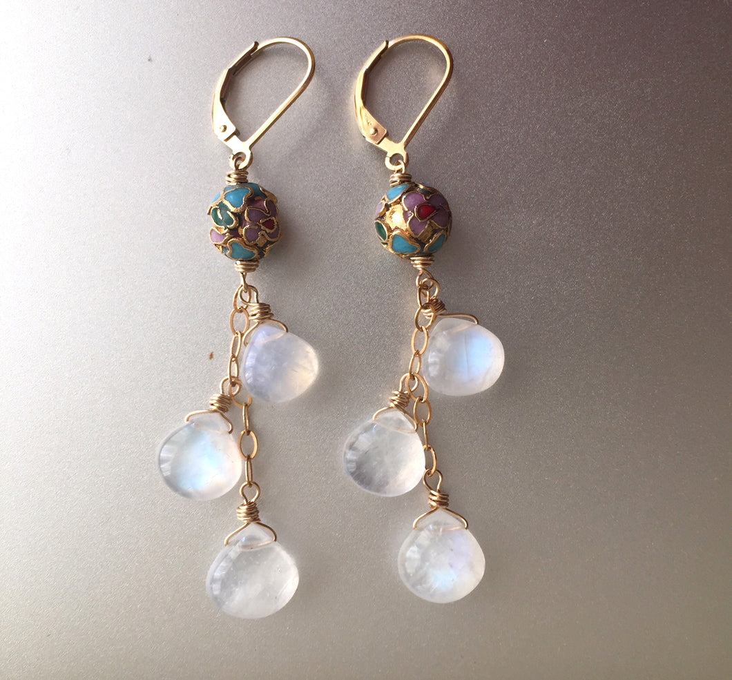 Moonstone and Cloisonne Cascade
